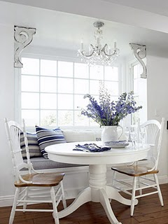 Window Seat in the Dining Room